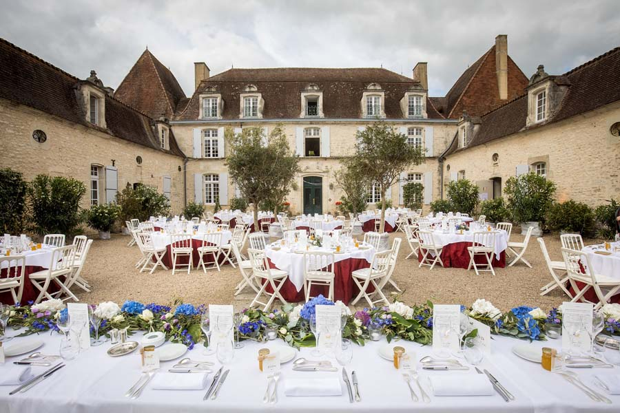 wedding in a french chateau